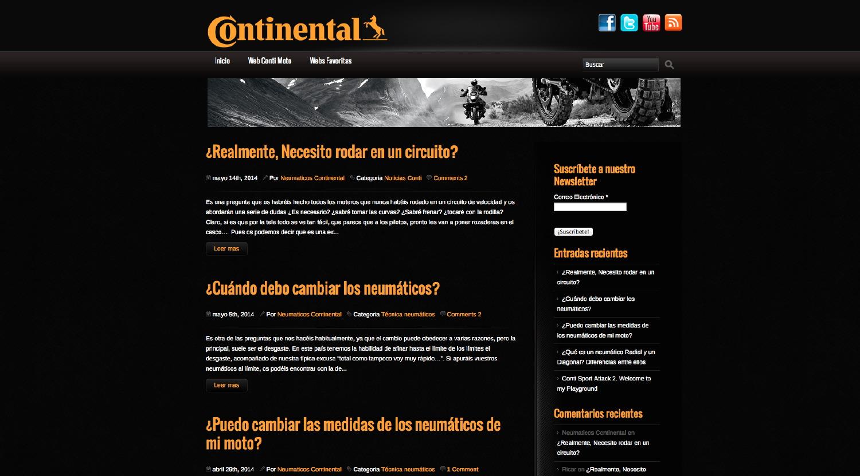 Continental lanza un blog para moteros