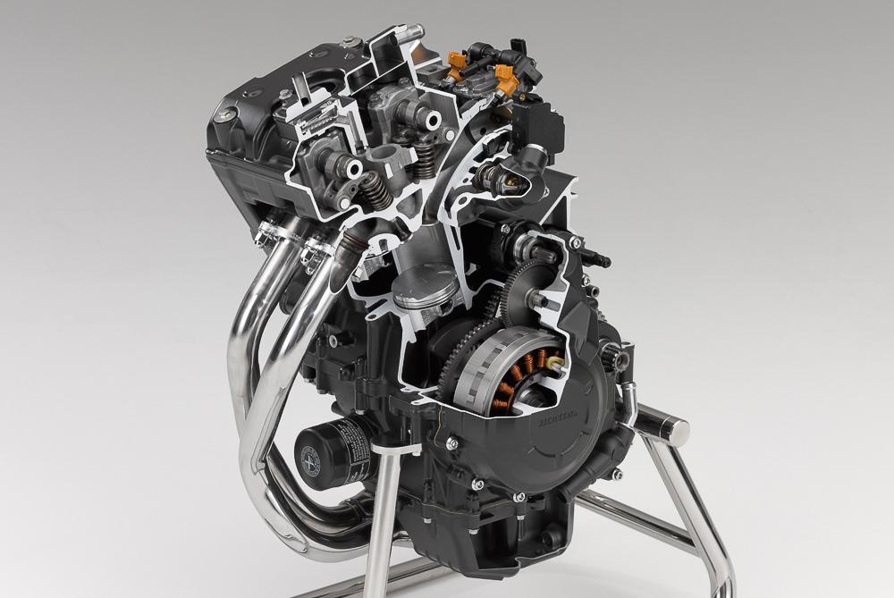 El motor de la Honda CB 500 F