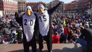 Más de 6.000 motoristas reivindican en Valladolid que se celebre Pingüinos 2015
