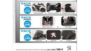 Promoción de accesorios Peugeot Scooters