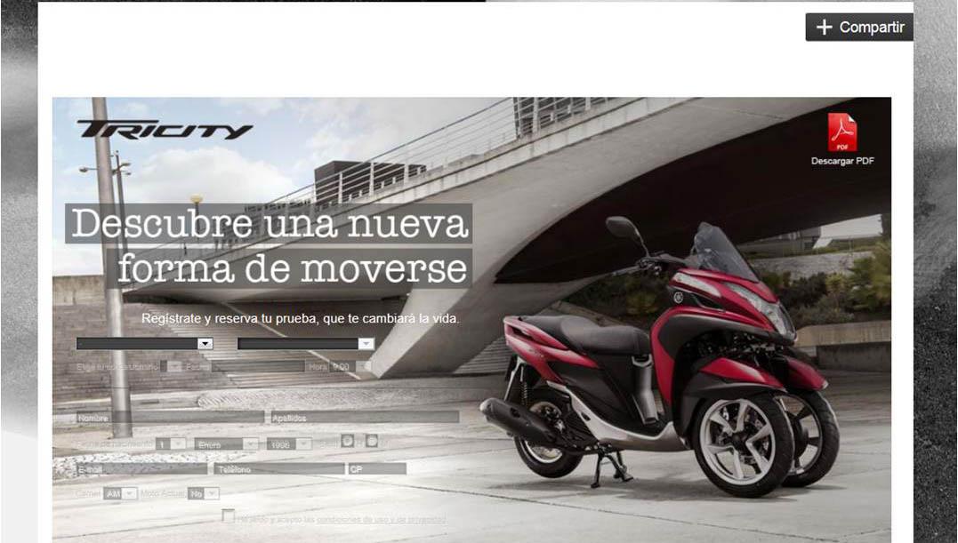 Yamaha ofrece la posibilidad de probar la nueva Tricity