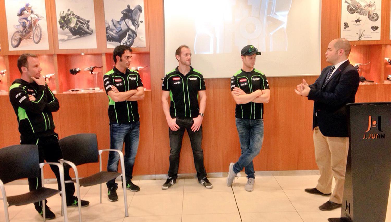 J.Juan presenta el patrocinio del equipo Kawasaki Racing Team