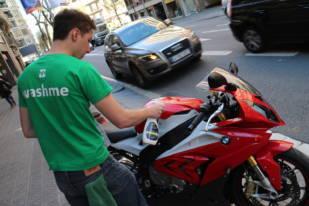 Washme, la aplicación para un lavado de la moto rápido y en cualquier lugar