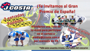 J.Costa regala dos entradas para el Gran Premio de Motociclismo de Jerez entre sus clientes