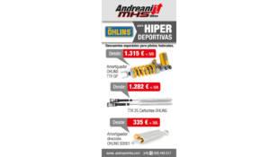 Las suspensiones Öhlins para motos hiperdeportivas, a precios especiales