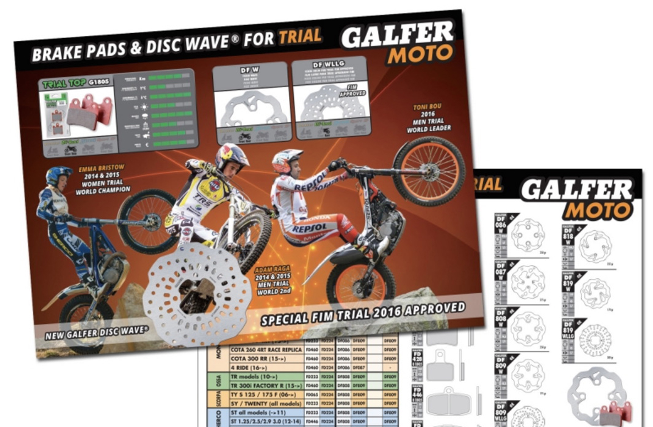 Nuevo catálogo de trial Galfer