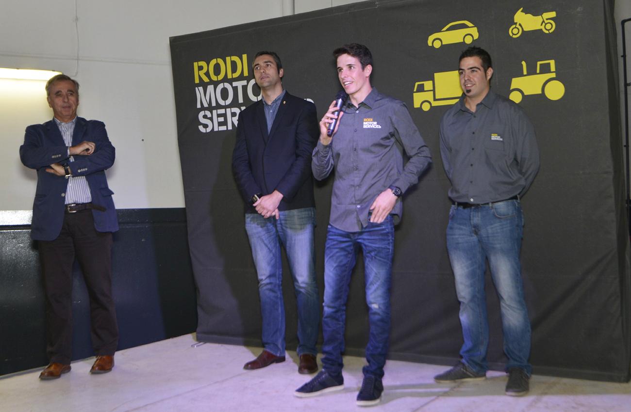 Àlex Márquez apadrina el nuevo Rodi Motor Services de Agramunt (Lleida)