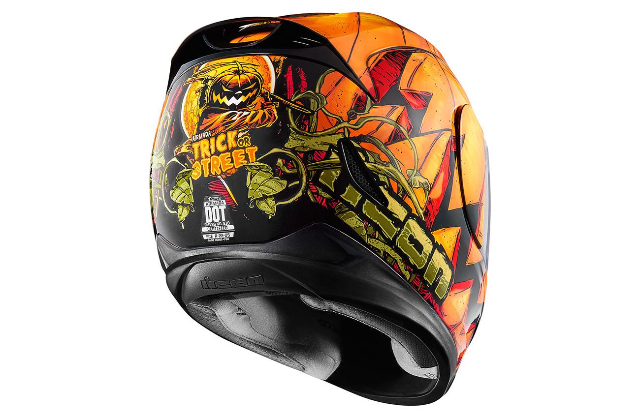 El nuevo casco Icon Airmada Trick or Street se inspira en Halloween