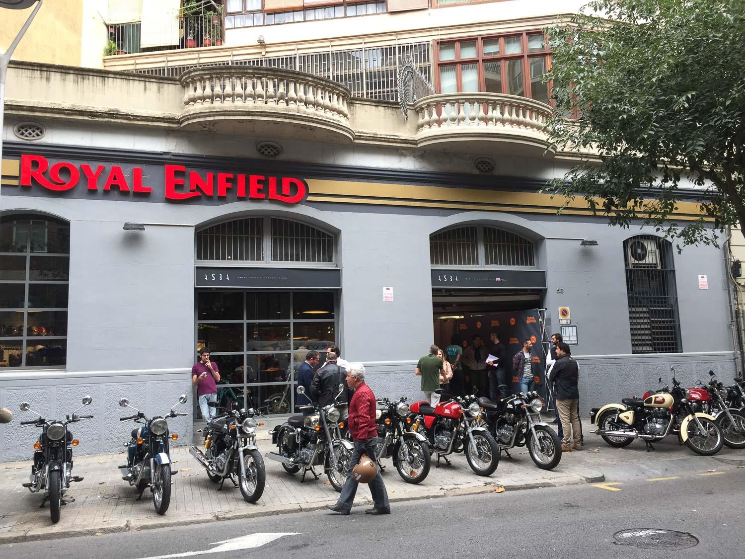 Royal Enfield abre su propio espacio en Barcelona