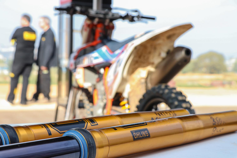 Öhlins pone a prueba su nuevo amortiguador TTX Flow