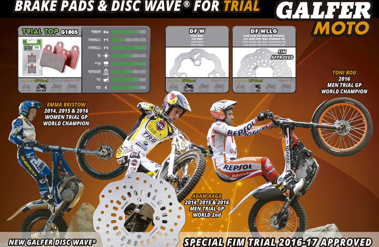 Los componentes Galfer protagonistas destacados en Trial