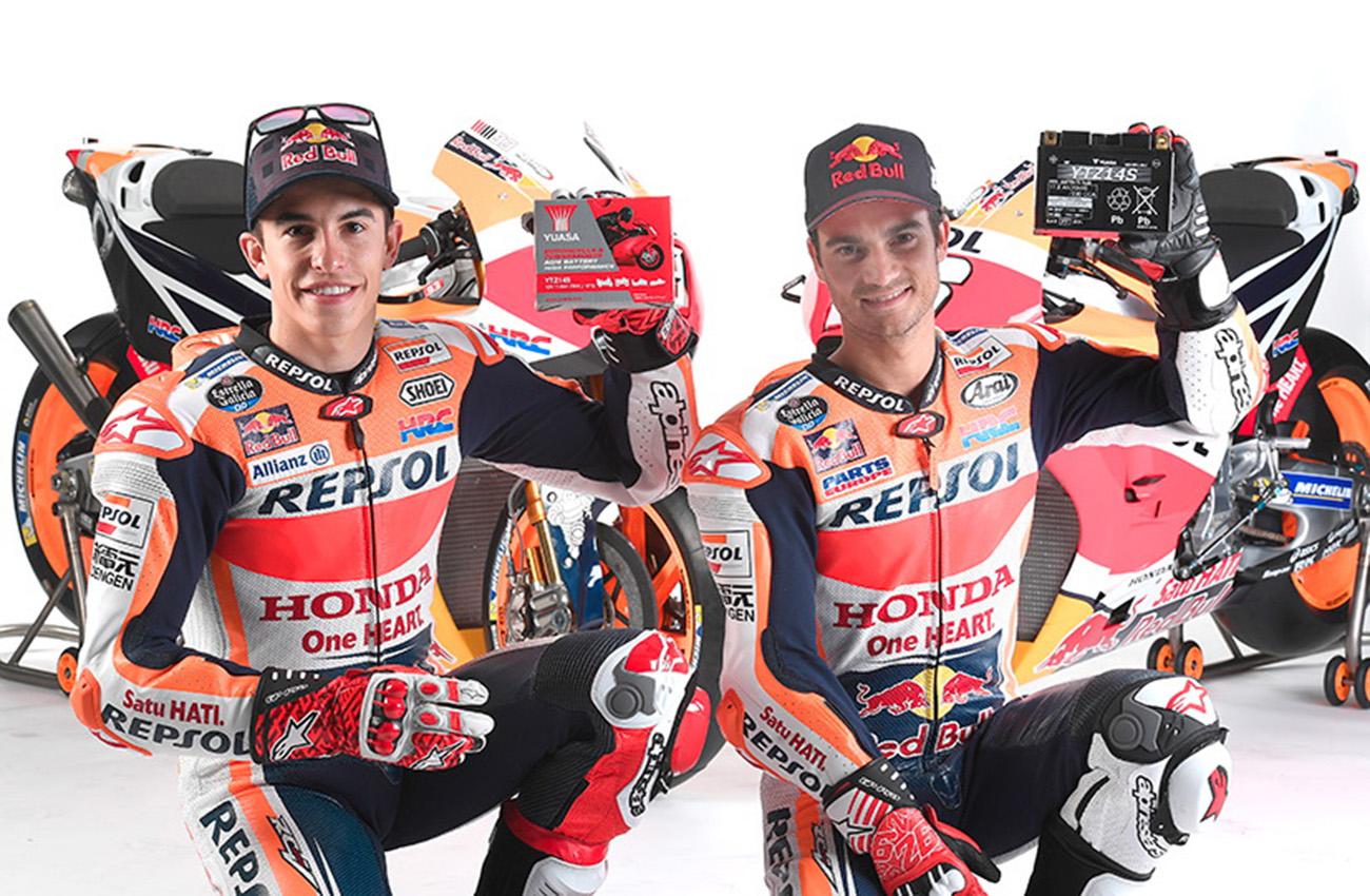 Yuasa patrocina un año más al equipo Repsol Honda Team de motociclismo
