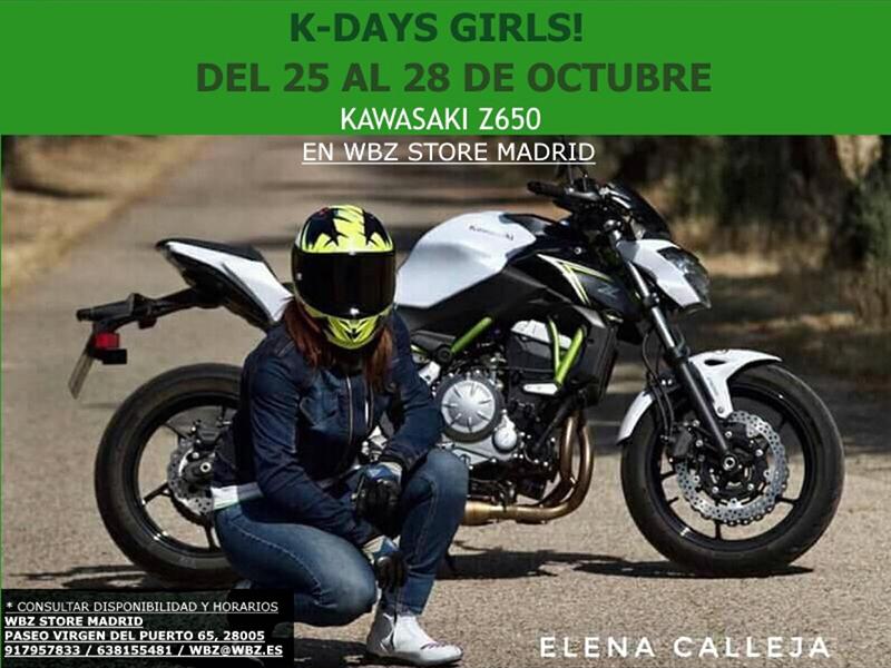Moteras, probad la Kawasaki Z650 en los K-Days Girls! de WBZ