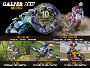Triunfal temporada deportiva 2017 la de Galfer Moto