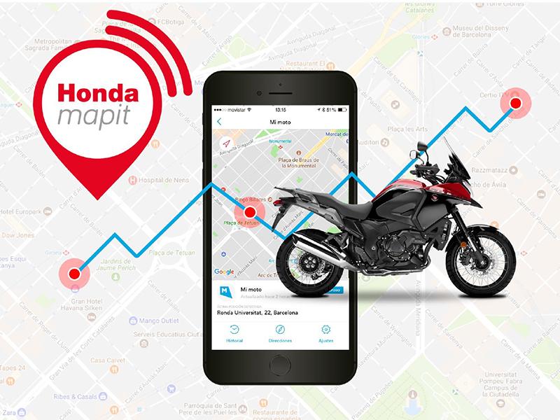 Siempre conectado a tu moto con Honda Mapit