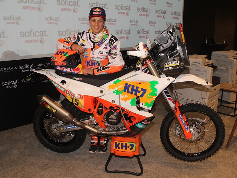 Laia Sanz, con más experiencia y preparación para el Dakar 2018