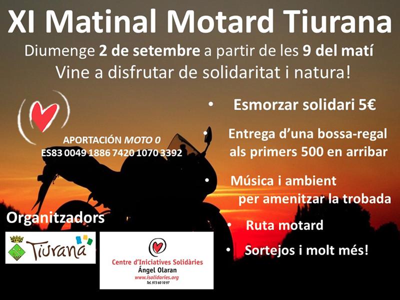 El próximo 2 de septiembre, XI Matinal Motard en Tiurana (Lleida)