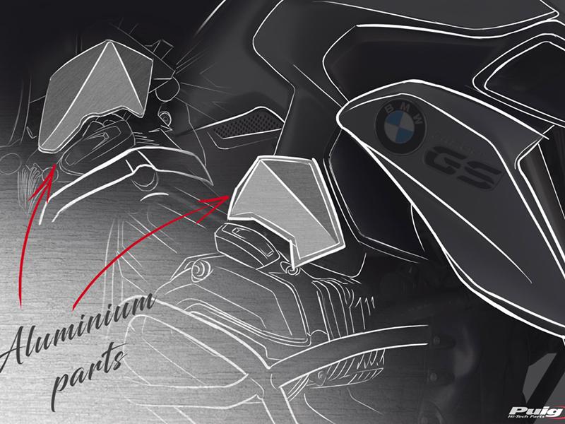 Nuevos deflectores y tapas de toberas de inyección Puig para la BMW R1200 GS