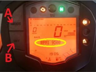motoConsejo Texa: Configuración del aviso Shift R.P.M. en una KTM 390 Duke