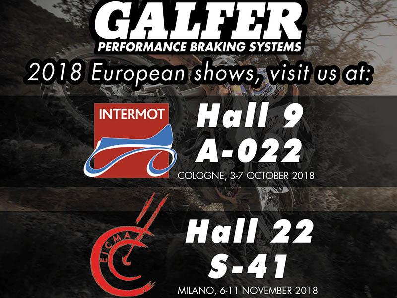 Galfer confirma su presencia en Intermot y en EICMA