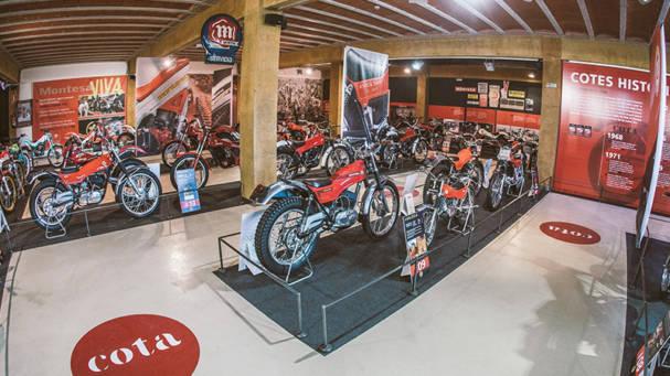 El Museo de la Moto de Bassella inaugura una exposición del 50 Aniversario de la Montesa Cota