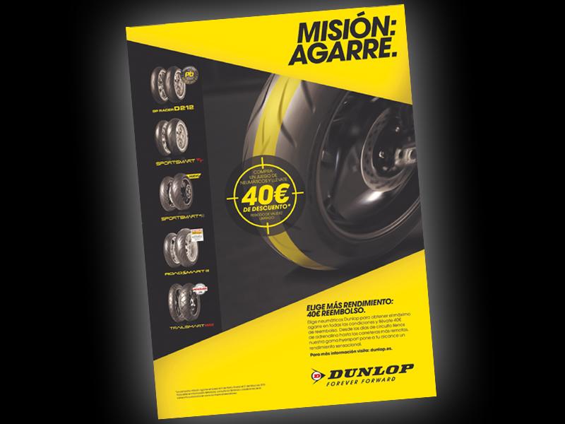 Dunlop premia por adquirir un juego completo de sus neumáticos