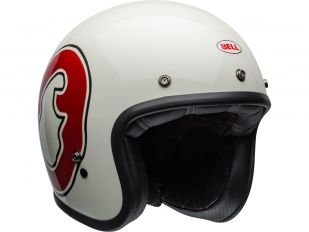 Para los moteros más irreverentes, llega la gráfica WFO del casco Custom 500 de Bell