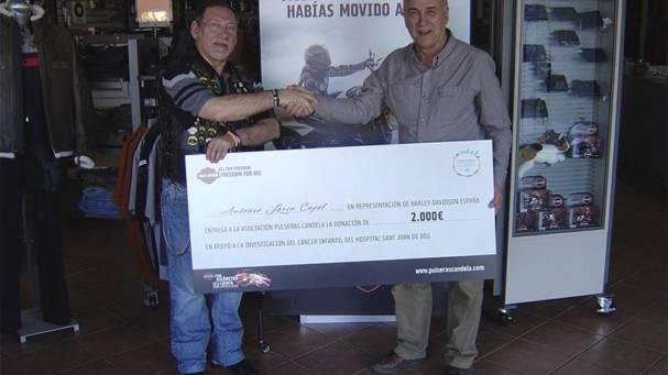 Harley-Davidson recauda 10.508 euros para la investigación contra el cáncer infantil