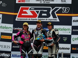 María Calero acaba segunda en el SBK femenino en Montmeló