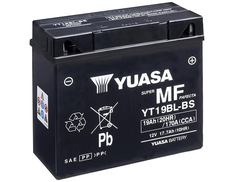 Máxima potencia de arranque con la batería Yuasa YT19BL-BS