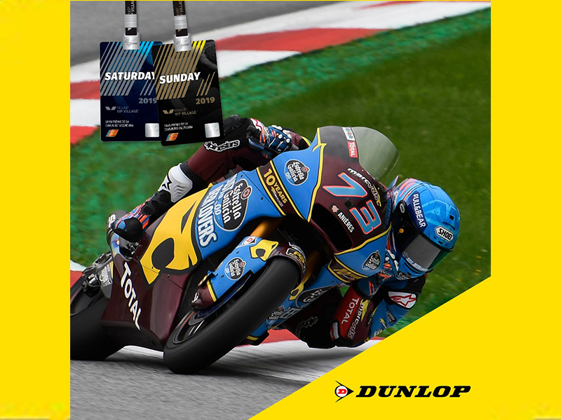 Dunlop regala dos pases VIP para el Gran Premio Motul de la Comunitat Valenciana