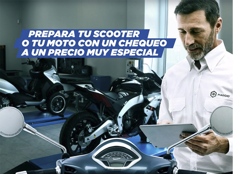 Programa Check & Go de Grupo Piaggio: revisa tu escúter o moto por menos de 12 euros
