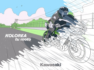 """Kolorea tu Kawasaki"", una gran idea para entretener a los ""peques"" de la casa"