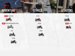 Entretenimiento asegurado con la app Honda Motorcycles Experience