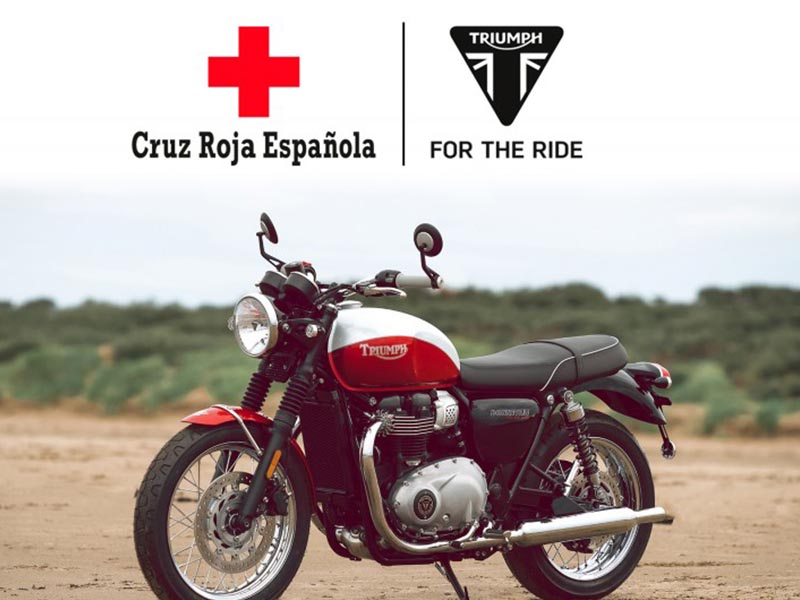 Triumph sortea una moto para ayudar a Cruz Roja en la lucha contra el COVID-19