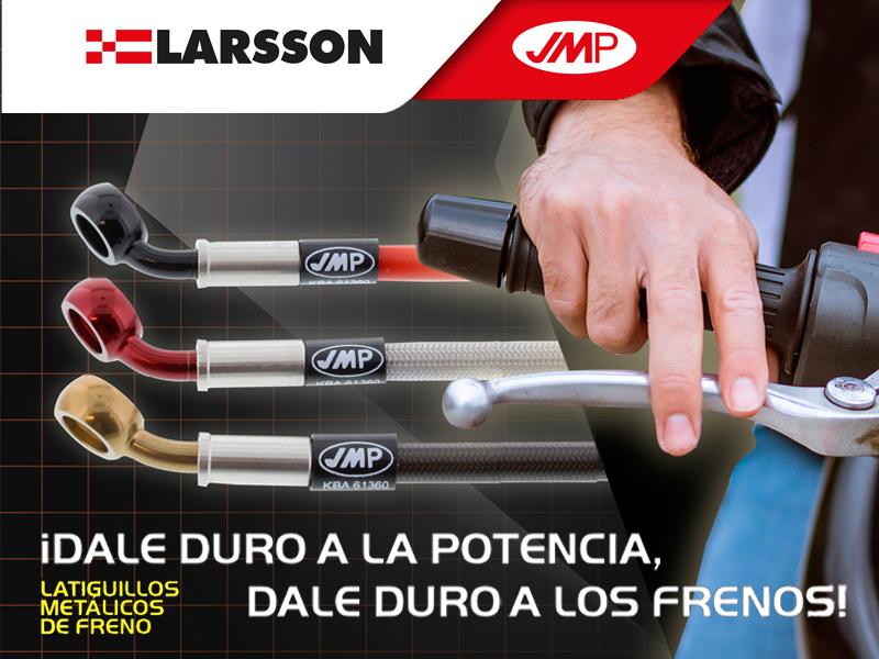 Larsson presenta la nueva gama de latiguillos metálicos JMP