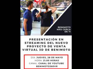 BeniMoto presenta esta noche el proyecto de venta de Realidad Virtual