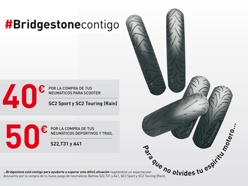 Bridgestone regala hasta 50 euros por la compra de un juego de neumáticos