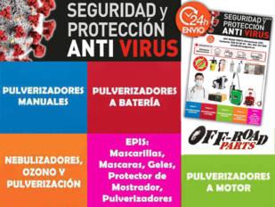 Off Road Parts suministra productos de protección contra el Coronavirus