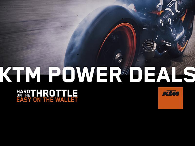 KTM Power Deals: varios modelos de carretera de la marca austríaca, a la venta con atractivos descuentos