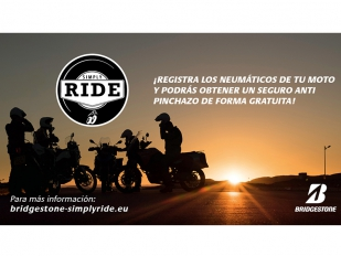 Simply Ride, la garantía antipinchazos gratuita para neumáticos de moto de Bridgestone