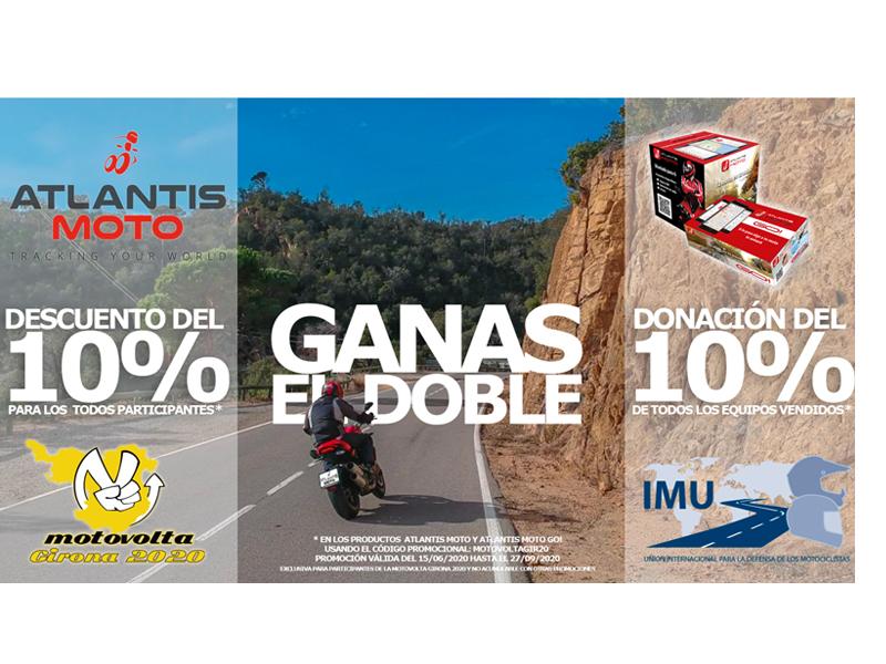 Los participantes de la Motovolta Girona 2020 se pueden beneficiar de una promoción de Atlantis Moto