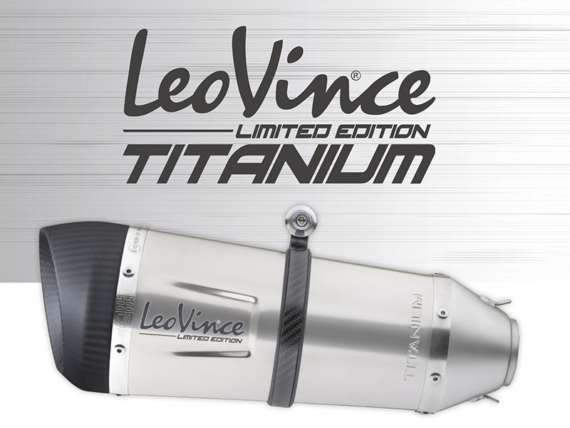 LeoVince lanza una edición limitada de silenciadores que combinan titanio y fibra de carbono