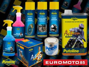 Euromoto85 quiere que la moto y el piloto estén siempre impecables con los limpiadores Putoline