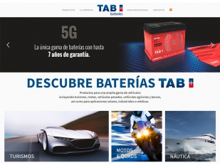La nueva web de TAB Spain