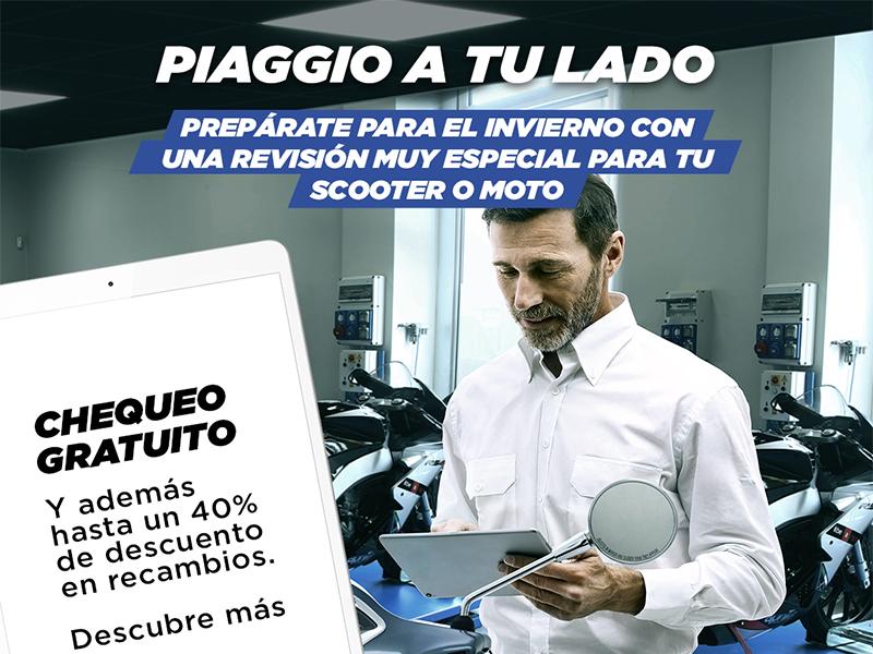 """Grupo Piaggio relanza la promoción """"Piaggio a tu lado"""" para las motos de 4 años o más"""