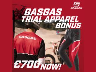 Bono de equipamiento GasGas Apparel al comprar una TXT Racing o una TXT GP 2020