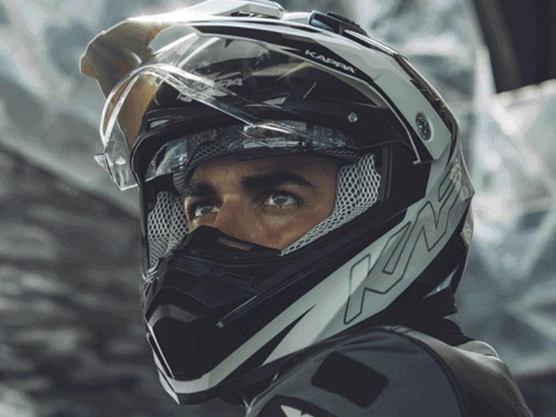 KV30 Enduro Flash, un casco de Kappa ideal para viajes largos