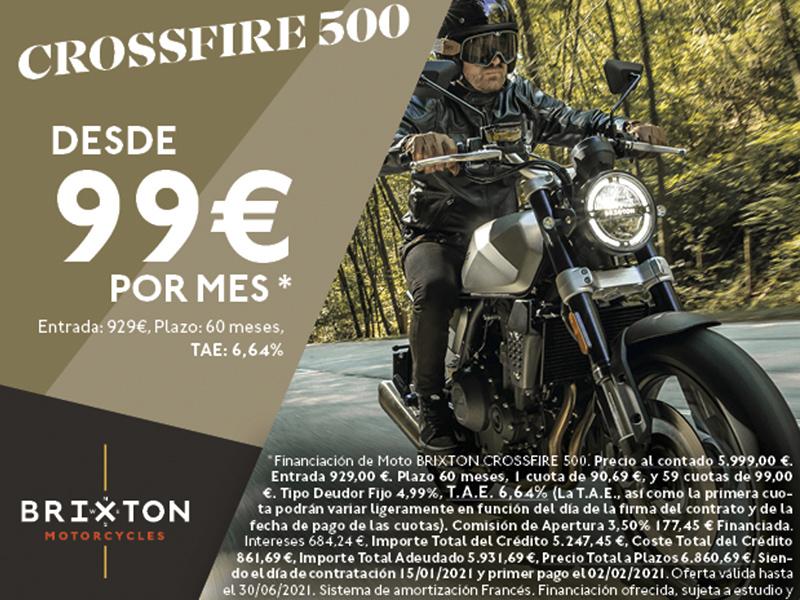 La Brixton Crossfire 500, por solo 99 euros al mes