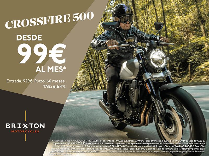 La Brixton Crossfire 500 sigue a 99 euros al mes